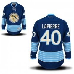 Maxim Lapierre Pittsburgh Penguins Reebok Authentic Alternate Jersey (Royal Blue)