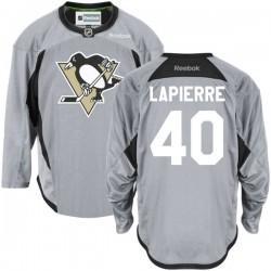 Maxim Lapierre Pittsburgh Penguins Reebok Authentic Gray Practice Team Jersey ()