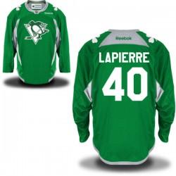 Maxim Lapierre Pittsburgh Penguins Reebok Authentic St. Patrick's Day Replica Practice Jersey (Green)