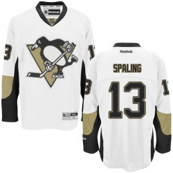 Nick Spaling Pittsburgh Penguins Reebok Authentic Away Jersey (White)