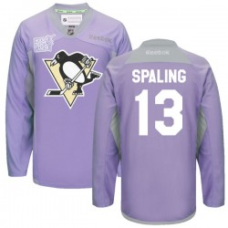 Nick Spaling Pittsburgh Penguins Reebok Authentic 2016 Hockey Fights Cancer Practice Jersey (Purple)