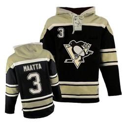 Olli Maatta Pittsburgh Penguins Authentic Old Time Hockey Sawyer Hooded Sweatshirt Jersey (Black)