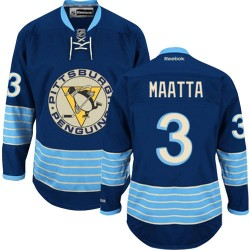 Olli Maatta Pittsburgh Penguins Reebok Authentic Vintage New Third Jersey (Navy Blue)
