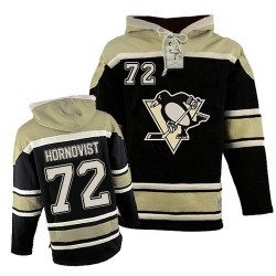 Patric Hornqvist Pittsburgh Penguins Authentic Old Time Hockey Sawyer Hooded Sweatshirt Jersey (Black)