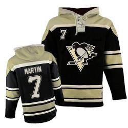 Paul Martin Pittsburgh Penguins Premier Old Time Hockey Sawyer Hooded Sweatshirt Jersey (Black)