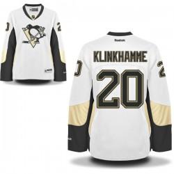 Rob Klinkhammer Pittsburgh Penguins Reebok Women's Premier Away Jersey (White)