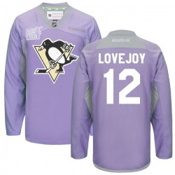 Ben Lovejoy Pittsburgh Penguins Reebok Authentic 2016 Hockey Fights Cancer Practice Jersey (Purple)