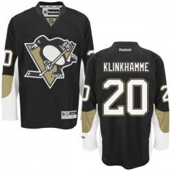 Rob Klinkhammer Pittsburgh Penguins Reebok Authentic Home Jersey (Black)