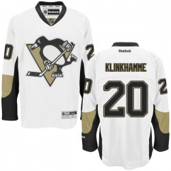 Rob Klinkhammer Pittsburgh Penguins Reebok Authentic Away Jersey (White)