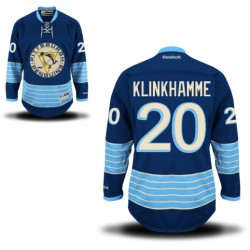 Rob Klinkhammer Pittsburgh Penguins Reebok Authentic Alternate Jersey (Royal Blue)