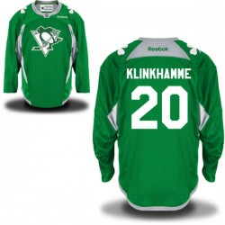 Rob Klinkhammer Pittsburgh Penguins Reebok Authentic St. Patrick's Day Replica Practice Jersey (Green)