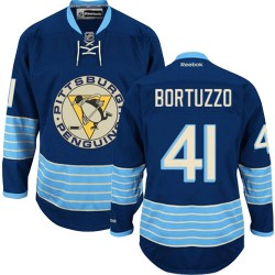 Robert Bortuzzo Pittsburgh Penguins Reebok Authentic Vintage New Third Jersey (Navy Blue)