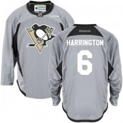 Scott Harrington Pittsburgh Penguins Reebok Premier Gray Practice Team Jersey ()