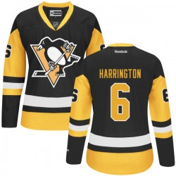 Scott Harrington Pittsburgh Penguins Reebok Premier Alternate Jersey (Black)