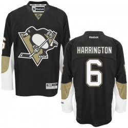 Scott Harrington Pittsburgh Penguins Reebok Authentic Home Jersey (Black)
