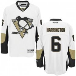 Scott Harrington Pittsburgh Penguins Reebok Authentic Away Jersey (White)