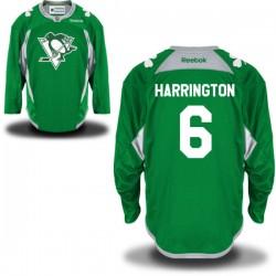 Scott Harrington Pittsburgh Penguins Reebok Authentic St. Patrick's Day Replica Practice Jersey (Green)