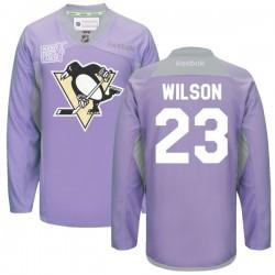 Scott Wilson Pittsburgh Penguins Reebok Authentic 2016 Hockey Fights Cancer Practice Jersey (Purple)
