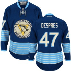 Simon Despres Pittsburgh Penguins Reebok Authentic Vintage New Third Jersey (Navy Blue)