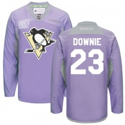 Steve Downie Pittsburgh Penguins Reebok Premier 2016 Hockey Fights Cancer Practice Jersey (Purple)