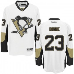 Steve Downie Pittsburgh Penguins Reebok Authentic Away Jersey (White)
