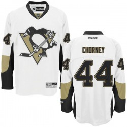 Taylor Chorney Pittsburgh Penguins Reebok Authentic Away Jersey (White)