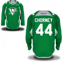 Taylor Chorney Pittsburgh Penguins Reebok Authentic St. Patrick's Day Replica Practice Jersey (Green)
