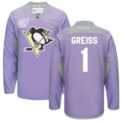 Thomas Greiss Pittsburgh Penguins Reebok Premier 2016 Hockey Fights Cancer Practice Jersey (Purple)