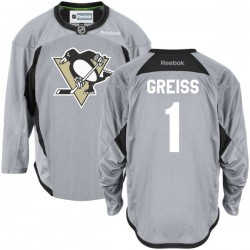 Thomas Greiss Pittsburgh Penguins Reebok Premier Gray Practice Team Jersey ()