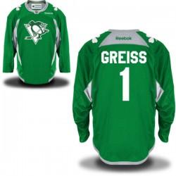 Thomas Greiss Pittsburgh Penguins Reebok Premier St. Patrick's Day Replica Practice Jersey (Green)