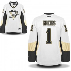 Thomas Greiss Pittsburgh Penguins Reebok Women's Premier Away Jersey (White)