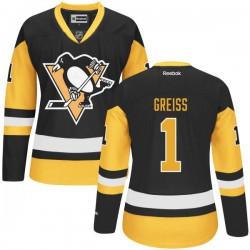 Thomas Greiss Pittsburgh Penguins Reebok Premier Alternate Jersey (Black)