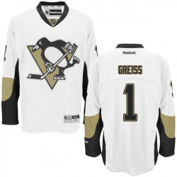 Thomas Greiss Pittsburgh Penguins Reebok Authentic Away Jersey (White)