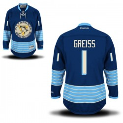 Thomas Greiss Pittsburgh Penguins Reebok Authentic Alternate Jersey (Royal Blue)