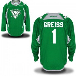 Thomas Greiss Pittsburgh Penguins Reebok Authentic St. Patrick's Day Replica Practice Jersey (Green)