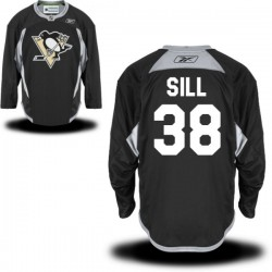 Zach Sill Pittsburgh Penguins Reebok Premier Alternate Jersey (Black)