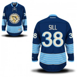 Zach Sill Pittsburgh Penguins Reebok Authentic Alternate Jersey (Royal Blue)