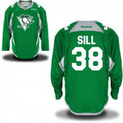 Zach Sill Pittsburgh Penguins Reebok Authentic St. Patrick's Day Replica Practice Jersey (Green)