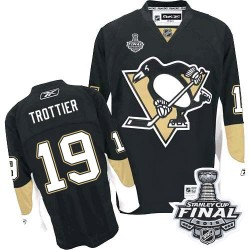 Bryan Trottier Pittsburgh Penguins Reebok Authentic Home 2016 Stanley Cup Final Bound NHL Jersey (Black)