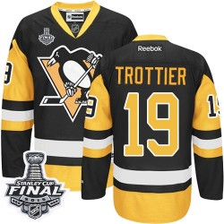 Bryan Trottier Pittsburgh Penguins Reebok Authentic Third 2016 Stanley Cup Final Bound NHL Jersey (Black/Gold)