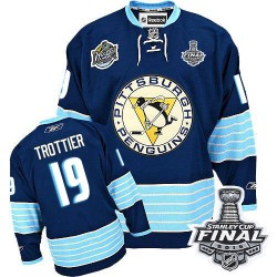 Bryan Trottier Pittsburgh Penguins Reebok Authentic Third Vintage 2016 Stanley Cup Final Bound NHL Jersey (Navy Blue)