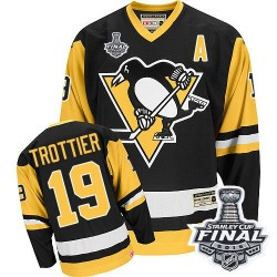Bryan Trottier Pittsburgh Penguins CCM Authentic Throwback 2016 Stanley Cup Final Bound NHL Jersey (Black)