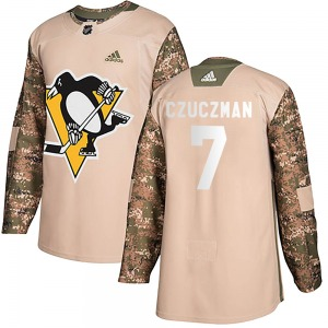 Kevin Czuczman Pittsburgh Penguins Adidas Authentic ized Veterans Day Practice Jersey (Camo)