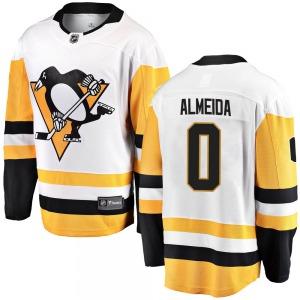 Justin Almeida Pittsburgh Penguins Fanatics Branded Youth Breakaway Away Jersey (White)