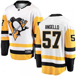 Anthony Angello Pittsburgh Penguins Fanatics Branded Youth Breakaway Away Jersey (White)
