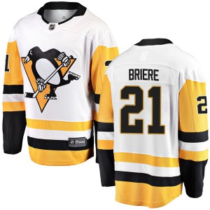 Michel Briere Pittsburgh Penguins Fanatics Branded Youth Breakaway Away Jersey (White)