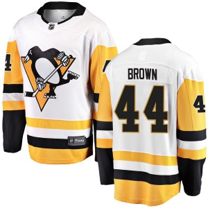 Rob Brown Pittsburgh Penguins Fanatics Branded Youth Breakaway Away Jersey (White)