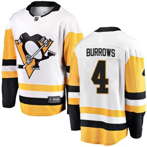 Dave Burrows Pittsburgh Penguins Fanatics Branded Youth Breakaway Away Jersey (White)