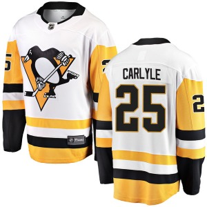 Randy Carlyle Pittsburgh Penguins Fanatics Branded Youth Breakaway Away Jersey (White)