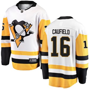 Jay Caufield Pittsburgh Penguins Fanatics Branded Youth Breakaway Away Jersey (White)